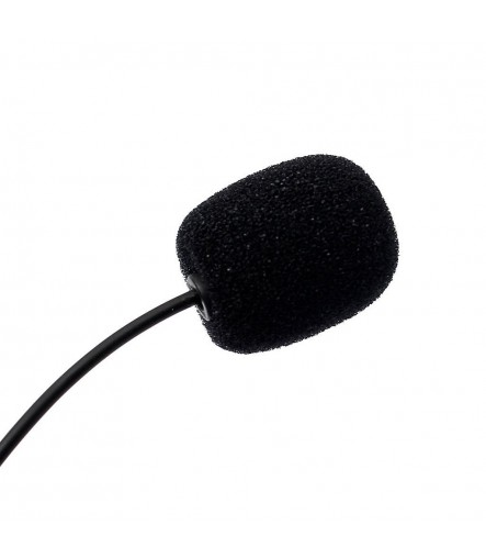 Generic Mini Collar Microphone with Clip for Chatting, Voice and Video Calling(Black)