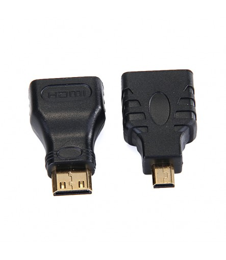 High Speed 3-In-1 HDMI Converter Cable HDMI to HDMI/Mini HDMI/Micro Type-A to Type-D Cable 1.5M - Black
