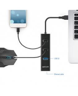 Astrum DA580 USB 3.0 HUB + Ethernet Adapter