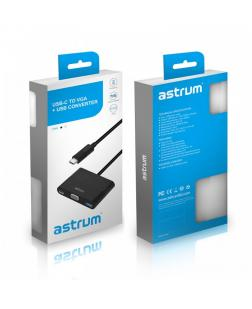 Astrum DA610 USB Type-C to VGA + USB Type-C + Type-A USB Adapter