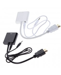 Terabyte HDMI To VGA with Audio Converter Adapter Cable