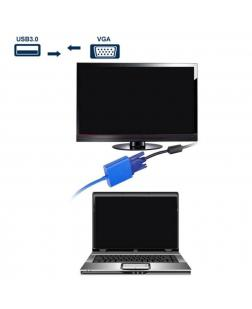 Terabyte USB 3.0 to 15 pin VGA female Conveter Adapter, supports Multi-monitor , windows PC Laptops