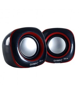 Quantum QHM 602 USB Mini Speaker (Black & Red)
