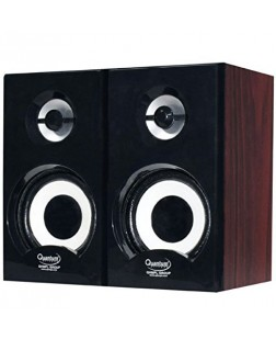 Quantum QHM636 USB Powered Wooden Speaker (Multicolor)