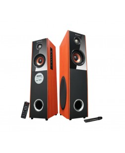 Zebronics T7400-RUCF Tower Speakers (Black and Orange)