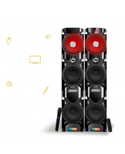 Intex IT-12006-SUF-B 2.0 Channel Tower Speakers (Black)