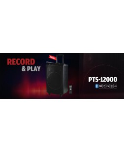 Punta PTS12000 Trolley Bluetooth Speaker (Karaoke Functions, Remote Control, Wireless Microphone) The Party Hoppers