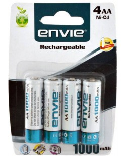 Envie 4 AA 1000 Ni-CD Rechargeable Ni-Cd Battery (Batteries Only)