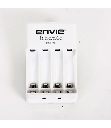 Envie ECR-20 4x AA 28004PL Camera Battery Charger (White, Charger Only)