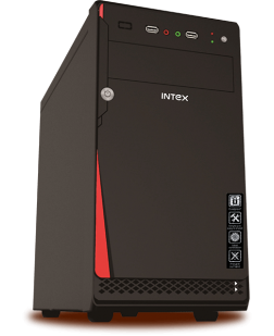 Intex IT-411 USB Cabinet without SMPS (Black)