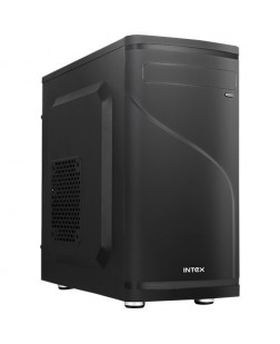 Intex IT-513 Micro ATX Computer Cabinet with SMPS (Black)
