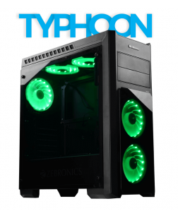 Zebronics Typhoon Gaming Computer Case (Black)