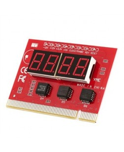 Debug Card 4 Digit Motherboard Testing With Manual suitable for desktop computers