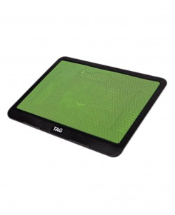 light and stylish USB cooling pad with noiseless fan to protect laptop from overheating
