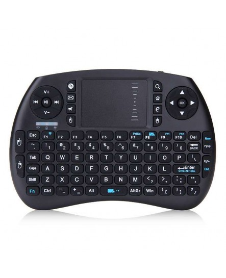 Portable Air Mouse Keyboard English/Russian/Spanish Multi-Media Backlight Remote Control Touchpad for Android TV BOX, Little Keyboard for Laptop, smart keyboard, android keyboards, air keyboard, portable keyboard, mini keyboard gaming
