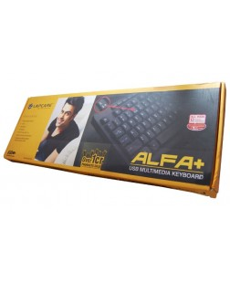 Lapcare Alfa Plus USB Multimedia Keyboard 104 Key with English layout Wired Keyboard For PC, Laptop, computers with 1 Year warranty by Lapcare