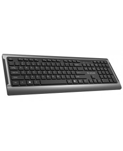 Lapcare Wireless Keyboard Solo Plus (WKB701, Black, 3 Years Warranty) ergonomic keyboard with long-lasting power Compatible with Windows XP, Vista, Windows 7, 8 and 10