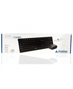ProDot CLC-712IB Wireless Multimedia Keyboard and Mouse Combo with UV Coated 12 Multimedia Keys for laptops, desktop, PC, Home/office use with 2 year warranty by Prodot