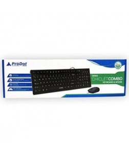 ProDot CRC-712pw Wired USB Multimedia Keyboard and Mouse Combo with 12 Multimedia Keys for laptops, desktop, PC, Home/office use with 1 year warranty by Prodot