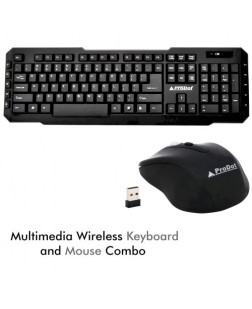 ProDot TLC-107+145 wireless Multimedia Keyboard and Mouse Combo (Mash Yellow) with 114 Keys for laptops, desktop, PC, Home/office use with 2 years warranty by Prodot