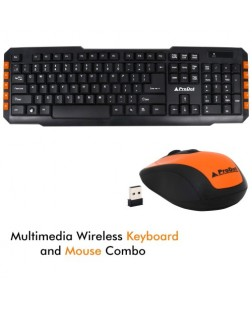 ProDot TLC-107+165 2.4 Ghz wireless Multimedia Keyboard and Mouse Combo with 114 Keys for laptops, desktop, PC, Home/office use with 2 year warranty by Prodot