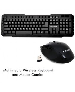 ProDot TLC-107+175 wireless Multimedia Keyboard and Mouse Combo with 114 Keys for laptops, desktop, PC, Home/office use with 1 year warranty by Prodot