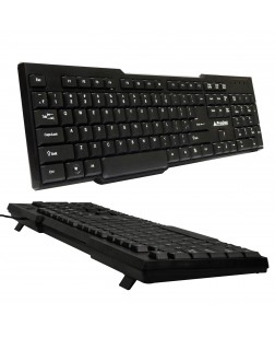 PRODOT KB-207s Wired PS2 Standard Keyboard with 1.5 m Cable (Black) with numpad for laptop, desktop, notebook, PC, Home/office use with 1 year warranty by Prodot