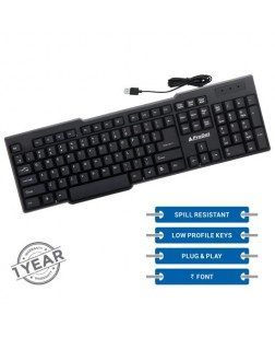 ProDot KB-207S Wired USB Keyboard with 104 Keys for laptops, desktop, PC, Home/office/court documentation use with 1 year warranty by Prodot