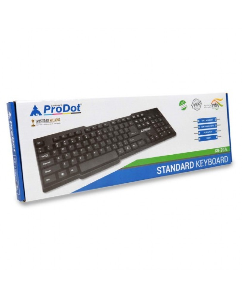 prodot kb 207s usb keyboard price wired keyboard computer keyboard online usb keyboards best. Black Bedroom Furniture Sets. Home Design Ideas