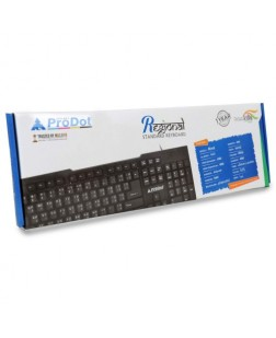 ProDot KB-297RS Wired USB Keyboard with 114 Keys (6 Multimedia keys) and rupee font and Regional Tamil script language for laptops, desktop, PC, Home/office/court documentation use with 1 year warranty by Prodot