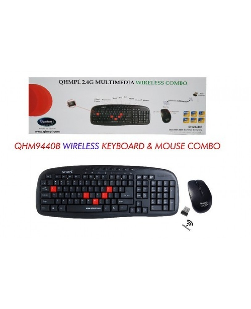 00517081c77 Quantum QHM 9440 Wireless Keyboard and Mouse Combo No need to code, plug  and play