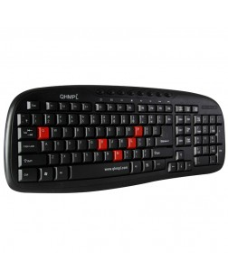Quantum QHM 9440 Wireless Keyboard and Mouse Combo No need to code, plug and play, Ultra-thin keyboard buttons, free working distance and best keyboards for typing/programming for Laptops, Desktops