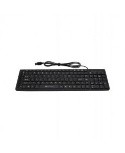 TechnoTech Wired USB Slim Keyboard Black (KB-790) with number pad for PC, Laptops, Desktops, Computers, DVR Boxes and all USB Compatible Devices with 1 year warranty by Technotech