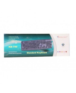 TechnoTech Wired PS2 Slim Keyboard Black (KB-790) with number pad for PC, Laptops, Desktops, Computers, DVR Boxes and all PS2 Compatible Devices with 1 year warranty by Technotech