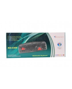 TechnoTech PS2 Multimedia Keyboard & Mouse Combo (KB-638M) with 114 keys + 12 multimedia Keys, Splash proof keyboard for Laptops, Notebooks, Desktop, PC with 1 Year manufacturer warranty