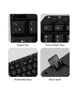 Zebronics KM-2100 Multimedia USB Keyboard with UV printed 114 keys which include 12 multimedia shortcut keys & 1 Year replacement warranty from Zebronics