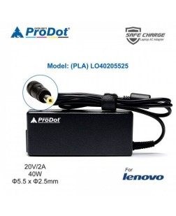 Prodot Adapter for Lenovo Vivobook 20V 2A 40W - 5.5 x 2.5mm pin Laptop Adapter (PLA-LO40205525)