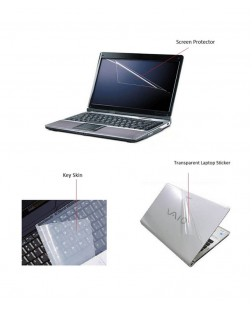 Plain transparent laptop back stickers and skins ranging from 14.1 inches to 15.6 inches for dirt and scratch proofing