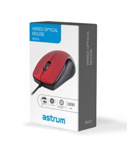 Astrum MU110 3B Wired Large Optical USB Mouse