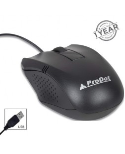 ProDot MU253s USB 1000 DPI Wired Optical Mouse (Black)
