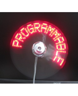 Programmable USB Fan with Text Programming Feature Display Any Text Message You Want to Compatible with All Smartphones