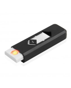 USB Lighter Electronic Windproof Rechargeable Cigarette Lighter Black / White (UC-LIT-V1)
