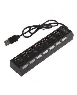 7-Port USB Hub with 7 Independent Switches B/w in colour (3.0/2.0)