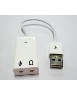 USB to Sound Splitter 3.5mm Stereo Audio Male to 2 x 3.5mm Female Earphone Splitter Cable Adapter for Apple
