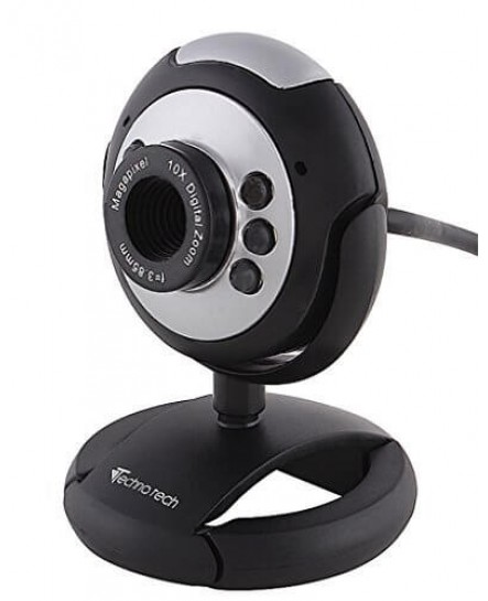 Technotech High Resolution 15 mp web cam with senstive microphone with night vision