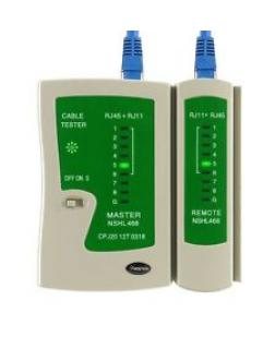 Battery powered RJ11 and RJ45 Network Cable Tester can judge wrong connection, short & open circuit