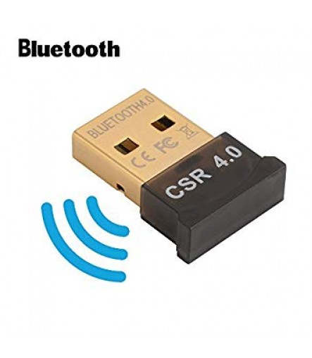 Bluetooth CSR 4.0 DONGLE Adapter, Compatible for Windows XP,7,8,10, Range 33ft, Data Rate 3 Mbps