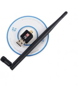 Terabyte USB 802.11N Wifi Lan Network Card Adapter 600 Mbps with Antenna (Black)