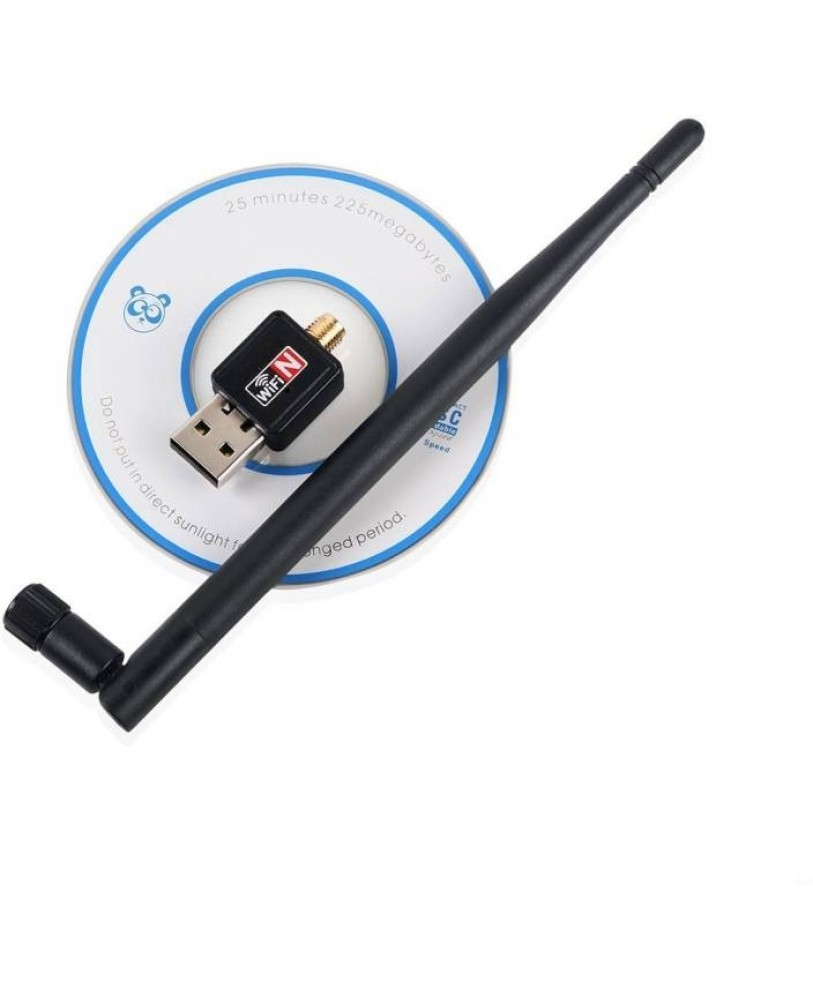 Terabyte 80211n Wifi Adapter 600 Mbps With Antenna Online At Lowest Usb Wireless Dongle Receiver Lan Network Card Black