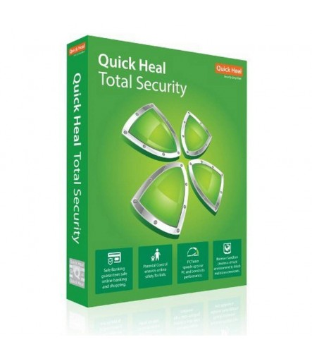 Quick Heal Total Security - 10 Users, 1 Year (Email Delivery in 2 hours/CD)